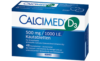 Packshot von CALCIMED® D3 500 mg Kautabletten