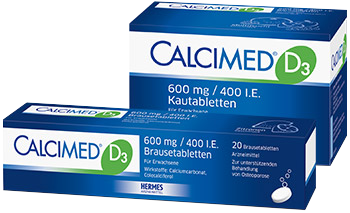 Packshot von CALCIMED® D3 600 mg Kautabletten
