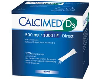 Packshot von CALCIMED® D3 500 mg Direct